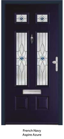 Peak Endurance Doors - Bowmont - French Navy Aspire Azure