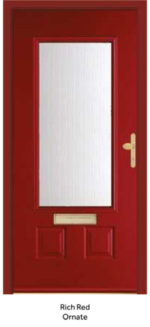 Peak Endurance Doors - Snowdon - Rich Red Ornate