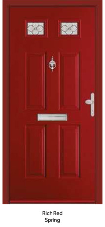 Peak Endurance Doors - Mont Blanc - Rich Red Spring