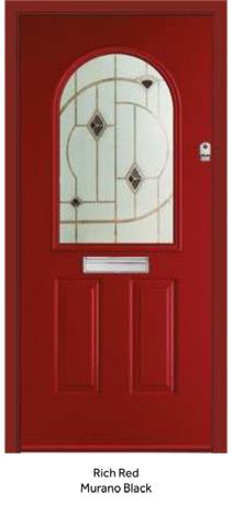 Peak Endurance Doors - Olympus - Rich Red Murano Black
