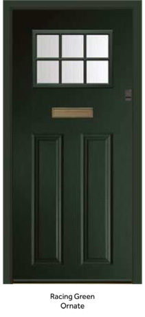 Peak Endurance Doors - Pentland - Racing Green Ornate