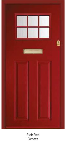 Peak Endurance Doors - Pentland - Rich Red Ornate