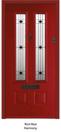 Peak Endurance Doors - Scafell - Rich Red Harmony