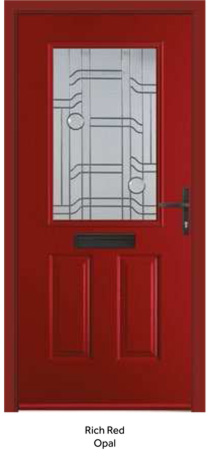 Peak Endurance Doors - Snowdon - Rich Red Opal
