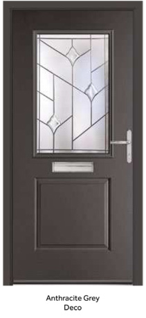 Peak Endurance Doors - Tate - Anthracite Grey Deco